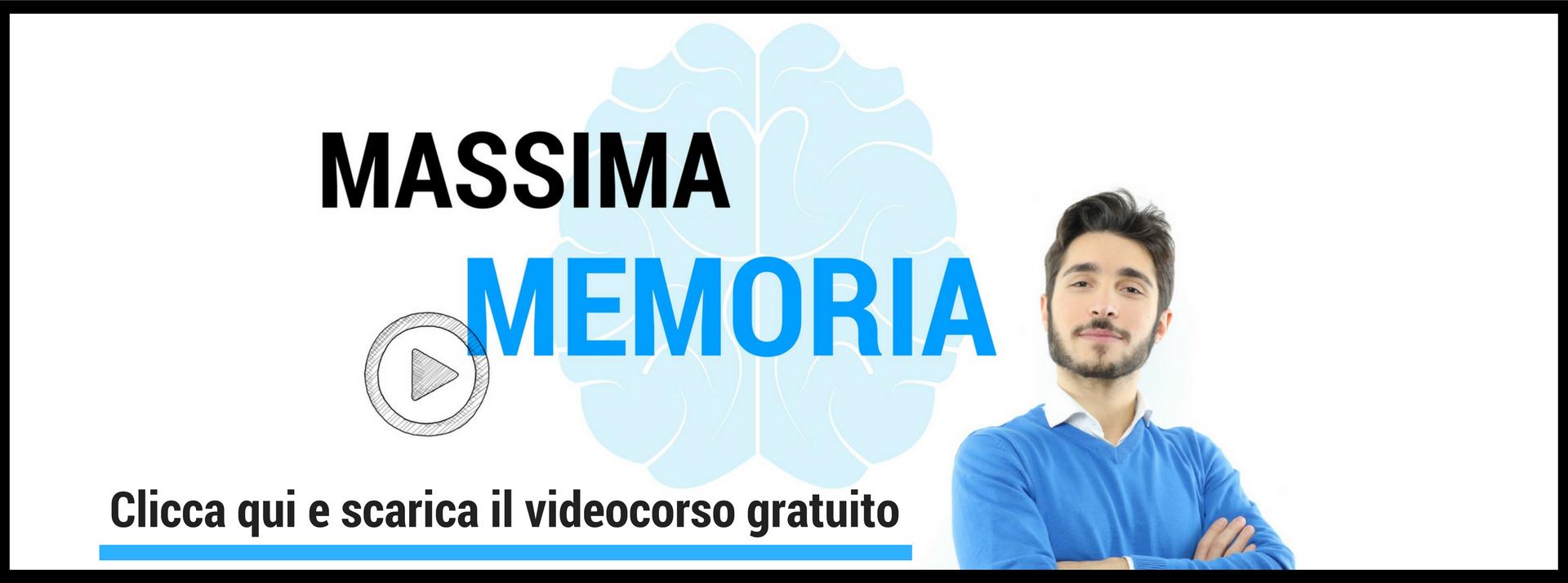videocorso tecniche di memoria - giuseppe moriello - palazzo della memoria