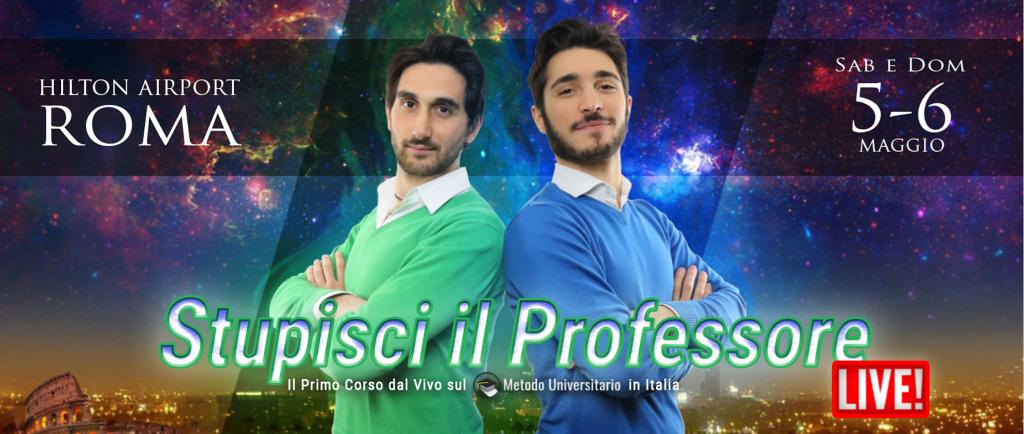 Palazzo della Memoria - Stupisci il Professore - Metodo Universitario - Andrea Acconcia - Giuseppe Moriello - Genio in 21 Giorni