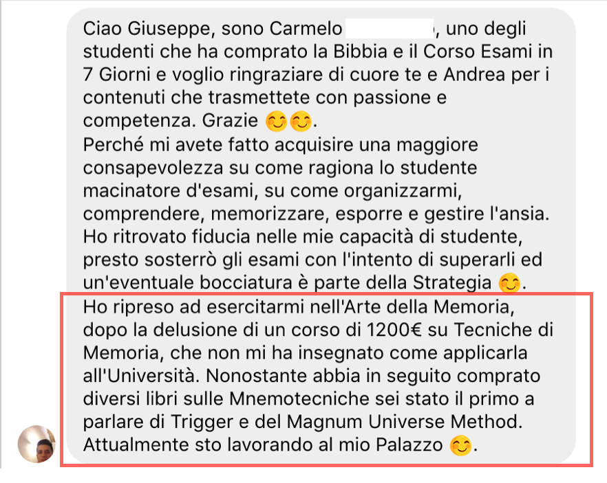 Corsi di Memoria - Opinioni - Truffa - Giuseppe Moriello